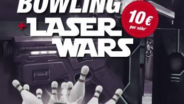 BOWLING + LASER WARS = 10€